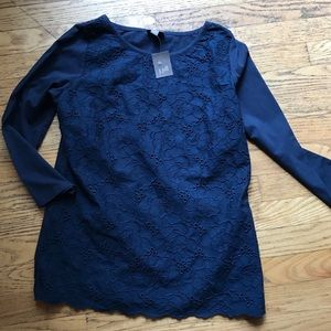 NWT J Jill embroidered top, XS